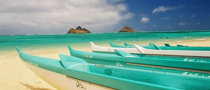 Canoes at Lanikai