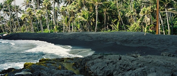 Black Sand Beach, Island of Hawai